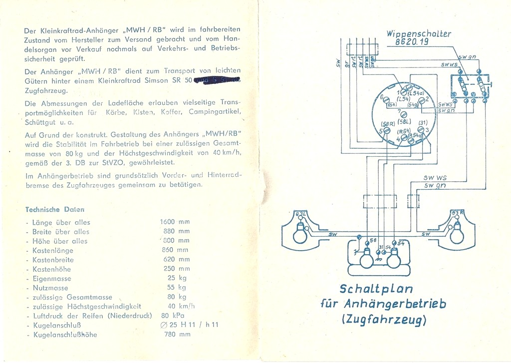 Tolle Anhänger Schaltplan Anleitung Bilder - Der Schaltplan ...