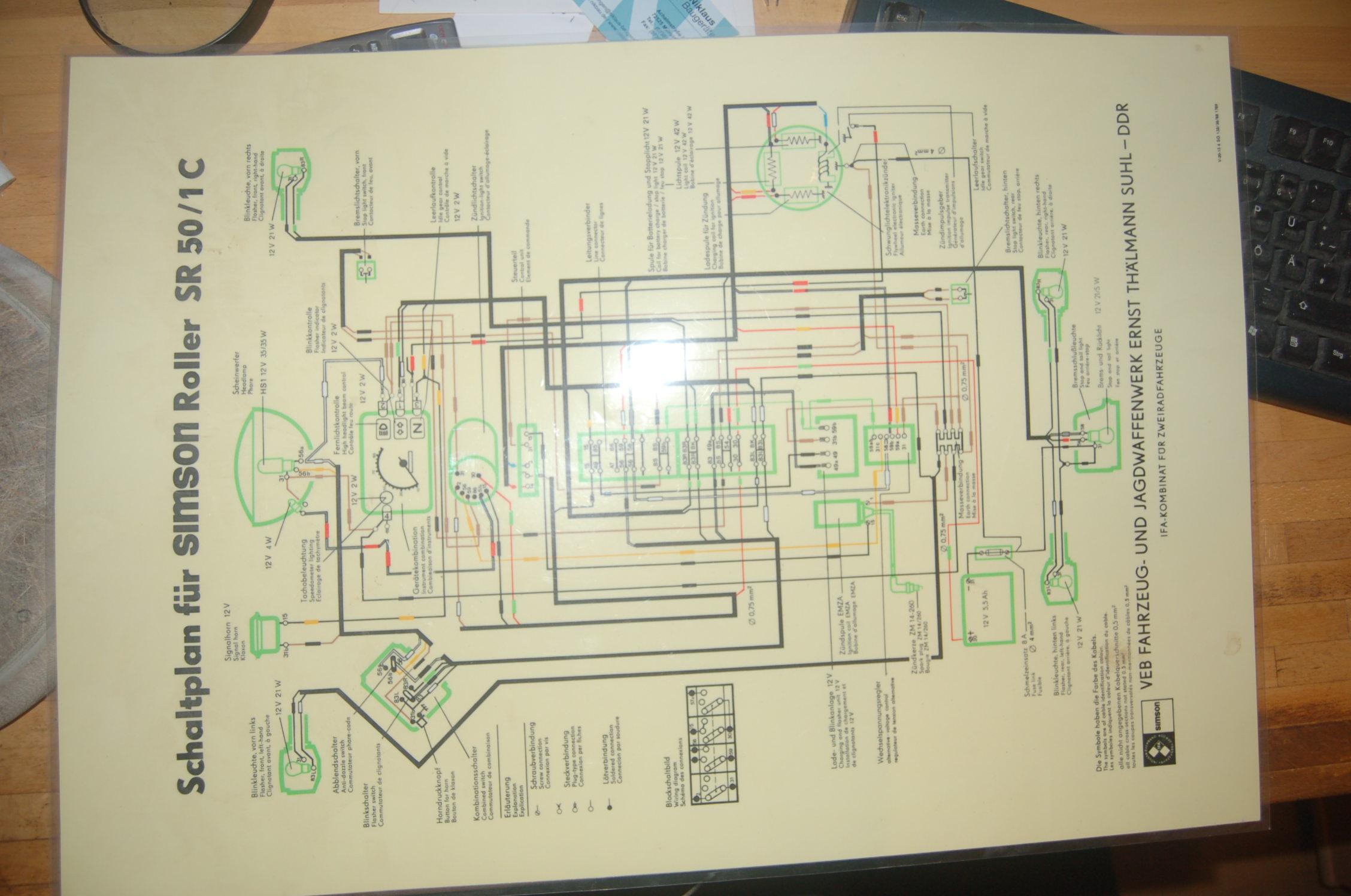 Verzweifel an Elektrik / Schaltplan SR50 gesucht • Simson Forum